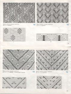 "Photo from album ""Knitting Lace A Workshop with Patterns and Projects"" on Yandex. Lace Knitting Stitches, Lace Knitting Patterns, Knitting Charts, Lace Patterns, Knitting Designs, Baby Knitting, Stitch Patterns, Vintage Knitting, Border Pattern"