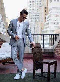 Latest Coat Pant Designs Grey Wedding Suits for Men Casual Slim Fit Stylish Jacket Simple Custom Men Tuxedo 2 Pieces Terno 17