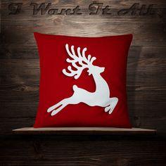 Blue Christmas Decor, Christmas Crafts To Make, Felt Christmas Ornaments, Christmas Fun, Christmas Decorations, Christmas Chair Covers, Christmas Cushions, Christmas Pillow, Quilting Designs