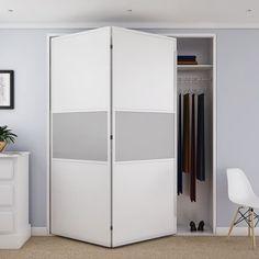 Klug Bifold 14 Sliding Door System - Fitting Pack - 4 Doors 2 Way at IronmongeryDirect Sliding Door Systems, Door Fittings, Folding Doors, Home Bedroom, Locker Storage, Packing, Hardware, Dining, Wood