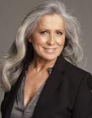 Image result for long grey haired women over 50