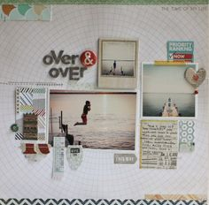 #papercraft #scrapbook #layout.  Memory Keeping Monday : over & over - Two Peas in a Bucket