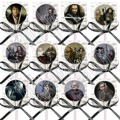 The HOBBIT Movie Lollipops Suckers with BLACK by PartyOverHereEtsy, $9.99