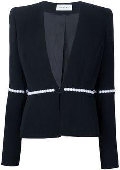 Mugler pearl embellished jacket