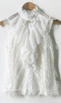 Vintage lace blouse 3623