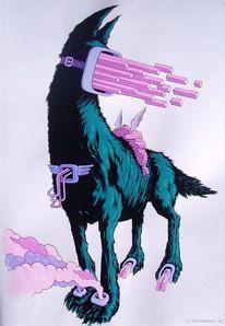 Illustration // Misc / http://www.juxtapoz.com/images/stories/dog2.jpg — Designspiration