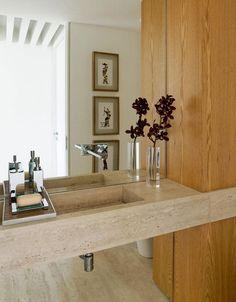 Apartamento Panamby Diseño Interior Neutro y Pisos de Travertino