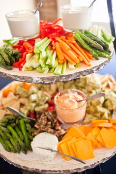 Crudites, Baby Spring Asparagus, Baby Carrots, Celery, Red Bell Pepper, Grape Tomatoes, Cream Blue Cheese Dressing, Lemon Herb Ranch Dressing~Littrell Photography