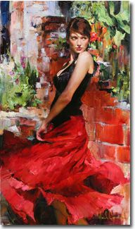 Original Painting, Thoughtful Reflections II by Michael & Inessa Garmash