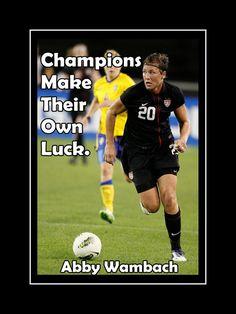 Soccer Poster Abby Wambach Soccer Champion by ArleyArtEmporium, $11.99