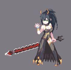 PixelArt 테리시[Terishe/テリシ] (@scv8402)   Twitter Character Inspiration, Character Art, Character Design, Anime Pixel Art, Pixel Characters, Pixel Animation, Pixel Art Games, Demon Art, Pretty Drawings