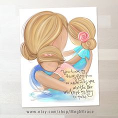 Blonde Mother and Daughters Wall Art Family Picture by MegNGrace