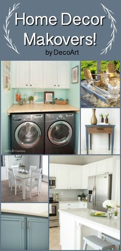 Summer is the perfect time for room, furniture, or outdoor makeovers! Find inspiration on our website! Stacked Washer Dryer, Home Decor Items, Kitchen Cabinets, Home Appliances, Website, Summer, Projects, Room, Diy