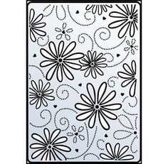 Crafts-Too Embossing Folder Daisy And Swirl