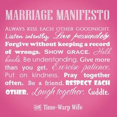 2 Free Printables: Mommy Manifesto and Marriage Manifesto
