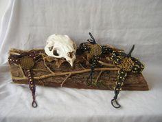 Anello/bracciale macramé con fiore della vita e perline in ottone di OREJARTE su Etsy
