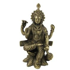 Amazon.com: God Vishnu Statue Sculpture Made in Brass Figurines and Statues 3 X 3 X 6: Home & Kitchen