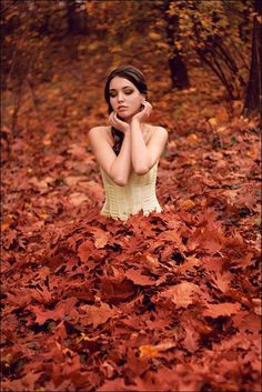 Autumn leaves...lots of leaves. WOULD LOVE to have a pic like this!
