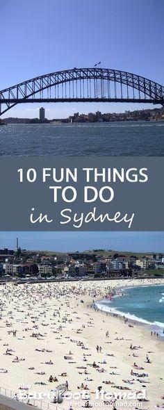 10 fun things to do in Sydney Australia