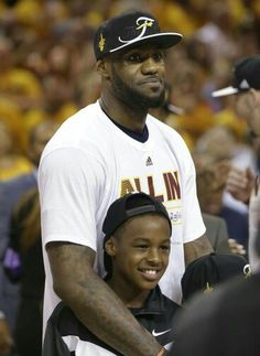 LeBron James With Son LeBron James Jr.