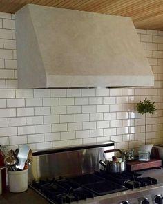 Expert Advice: 7 Ways to Use Lime Plaster (Hint: It's Not Just for Walls) - Remodelista Kitchen Hoods, Ikea Kitchen, Kitchen Decor, Kitchen Ideas, Brick Fireplace Makeover, Fireplace Remodel, Diy Hood Range, Range Hoods, Oven Hood