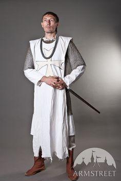 Knight Crusader Templar Medieval tabard with cross