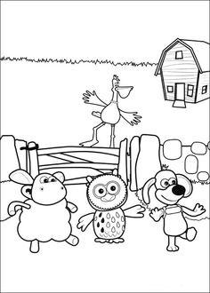 Shaun the sheep Tegninger til Farvelægning. Printbare Farvelægning for børn. Tegninger til udskriv og farve nº 42