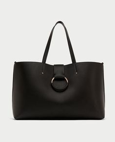 Image 4 of TOTE BAG WITH TWO-TONE HANDLE from Zara