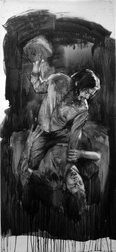 Shay Bredimus, Cain/Abel, brush drawing