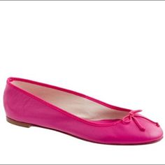 J.Crew Classic Leather Ballet Flats