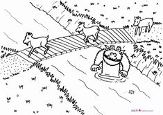 Three Billy Goats Gruff Coloring Sheet #FairyTale #