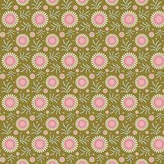 481111 Tilda stof Sunflower Green