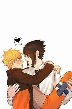 Sasuke e Naruto (SasuNaru) Naruto Vs Sasuke, Gaara, Manga Naruto, Naruto Comic, Naruto Cute, Shikamaru, Naruto Shippuden Anime, Baby Sasuke, Sasunaru