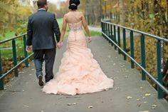Love this - Salmon wedding dress  |  sarah kossuch photography | CHECK OUT MORE GREAT PINK WEDDING IDEAS AT WEDDINGPINS.NET | #weddings #wedding #pink #pinkwedding #thecolorpink #events #forweddings #ilovepink #purple #fire #bright #hot #love #romance #valentines #pinky