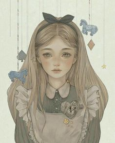 Alice In Wonderland - one of my favorite books! Disney Drawings, Art Drawings, Dessin Lolirock, Arte Copic, Alice In Wonderland Drawings, Alice Liddell, Alice Madness, Arte Sketchbook, Wow Art