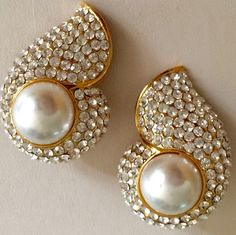 A personal favorite from my Etsy shop https://www.etsy.com/listing/242595845/jarin-vintage-pearl-rhinestone-pave