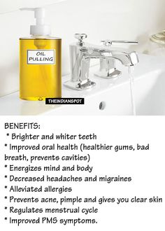 """Oil pulling method is making headlines today because it's getting popular day-by-day. This is the oldest Ayurvedic method which is known to cure 30 diseases. This simple technique makes it possible to treat various diseases and avoid surgical operations and medicines. This method is known as oil pulling method because it """"pulls out"""" bacterial, viruses"""