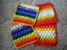 Thick crocheted hot pads  choose your colors by CraftyMonarch, $4.95