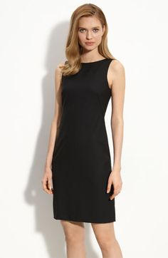 Wide V-Neck Ponte Flare Dress   The office, Sheath dresses and Inches