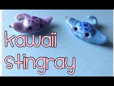 Kawaii Stingray Polymer Clay Charm Tutorial