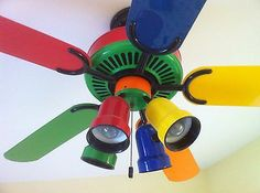 71 best kids ceiling fans with lights images on pinterest play multicolor multi colored 52 ceiling fan kids red blue orange yellow green aloadofball Images
