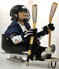 Steve Cash, goaltender for the 2010 Paralympic Winter Games gold-medal winning U.S. Team, led a sled hockey clinic at the Pelham Civic Center today. Lakeshore Foundation sponsored the event for kids with physical disabilities to learn about sled hockey.