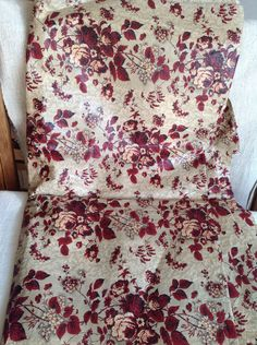 A personal favourite from my Etsy shop https://www.etsy.com/uk/listing/271184265/antique-french-fabric-cotton-red-grey