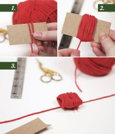 DIY pom poms and gift wrapping