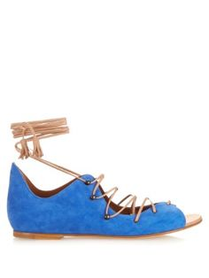 Savannah lace-up suede and leather sandals | Malone Souliers | MATCHESFASHION.COM UK