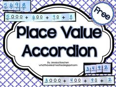 Free Printable - Place Value Accordion