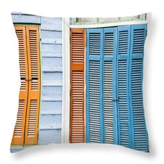 Throw Pillow featuring the photograph Caminito Door And Window by Silvia Bruno