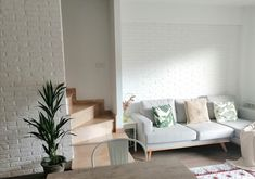 Sofa, Couch, Panel, Furniture, Home Decor, Brick, White People, Settee, Settee