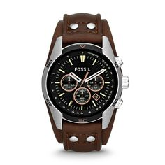Fossil Coachman Chronograph Leather Watch - Brown, CH2891| FOSSIL® Watches