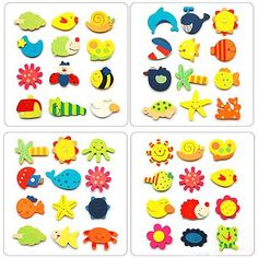 2015 New 12pcs Colorful Kids Baby Wood Cartoon Fridge Magnet Child Kids Educational Toys 5G47-in Bath Toy from Toys & Hobbies on Aliexpress.com | Alibaba Group